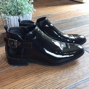 "Franco Sarto / ""Raphaela"" Patent Leather Booties"